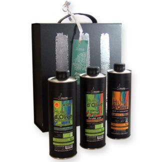 Coffret cadeau huile d'olive AOP Haute-Provence bio