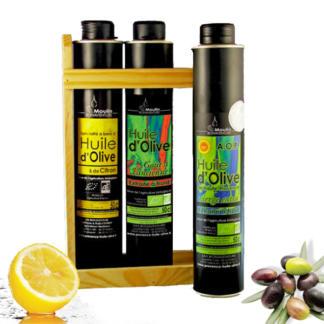 Coffret huile d'olive AOP - citron - Goût à l'ancienne