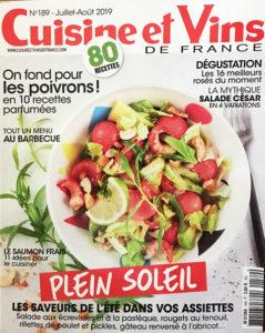 Cuisine et vins de France juillet-2019