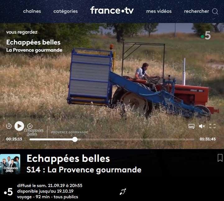 Echappees belles -france 5 - sept2019