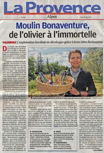 La presse parle du Moulin Bonaventure : nos produits, nos projets