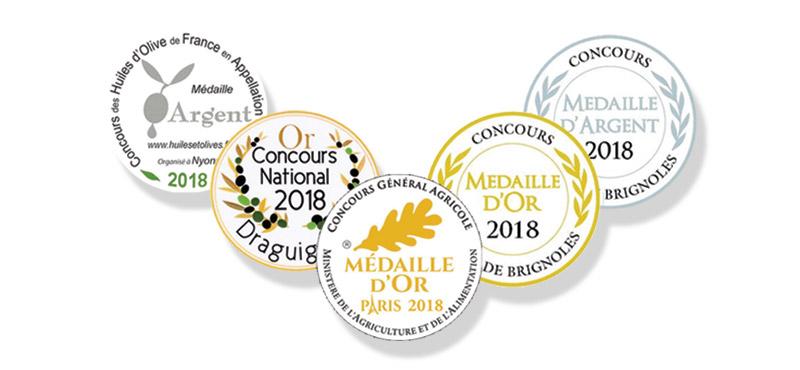 Médailles et récompenses du Moulin Bonaventure
