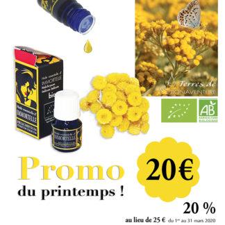 promotion huile essentielle d'helichrysum italicum italicum bio